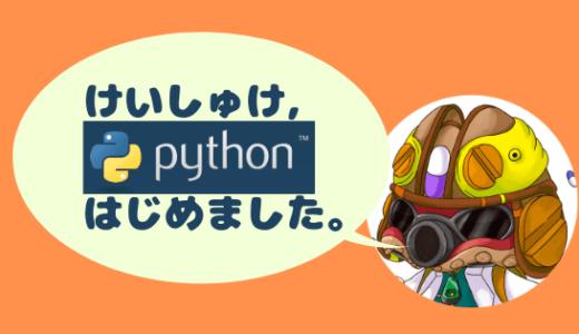 けいしゅけ,Pythonはじめました